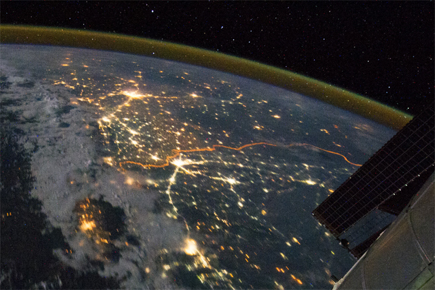 http://listverse.com/2014/09/05/10-surprising-things-you-can-see-from-space/